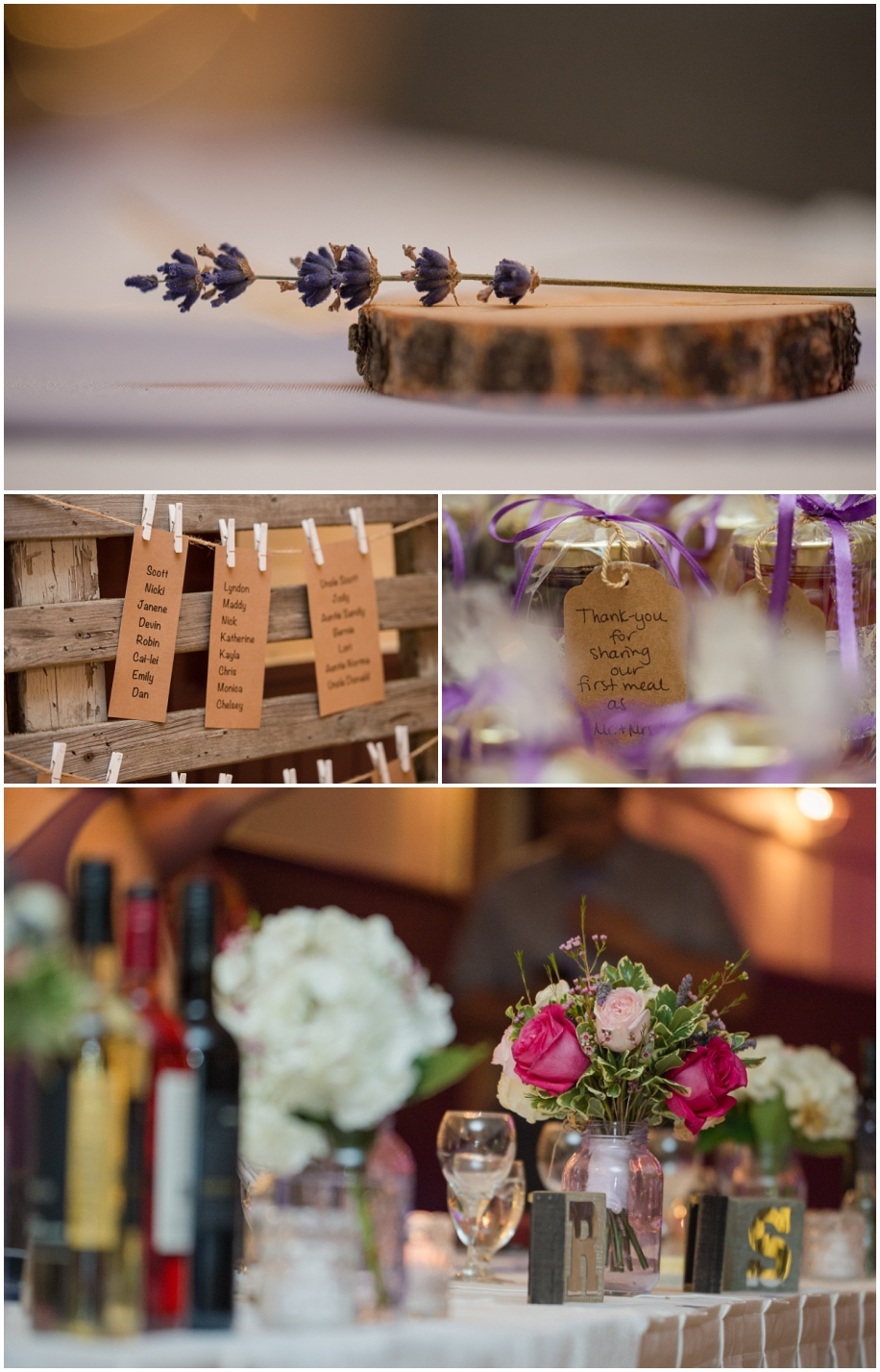 Lakeside wedding - Big Bar Lake BC photographer Lisa Novak wedding details lavender roses