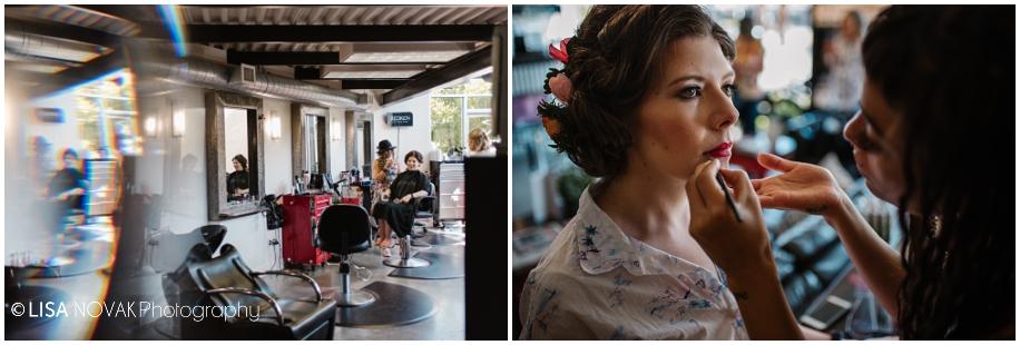 outdoor summer wedding sunshine TRU Kamloops BC vintage chic RA Studio hair makeup