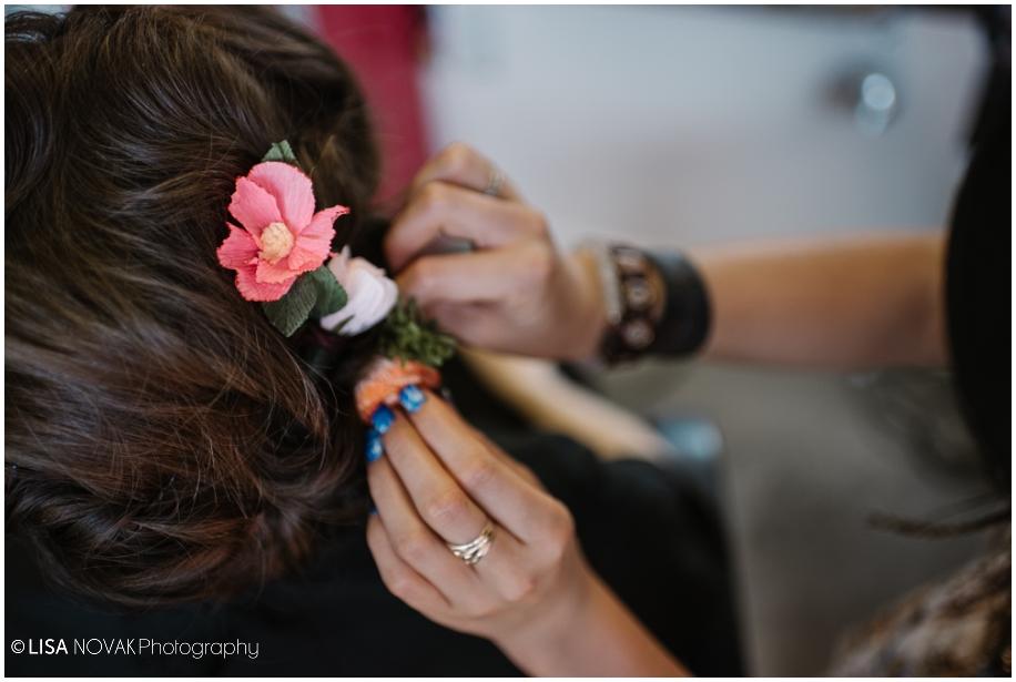 outdoor summer wedding sunshine TRU Kamloops BC vintage chic Ra studio hair