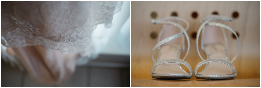 outdoor summer wedding sunshine TRU Kamloops BC vintage chic lace dress strappy bling shoes