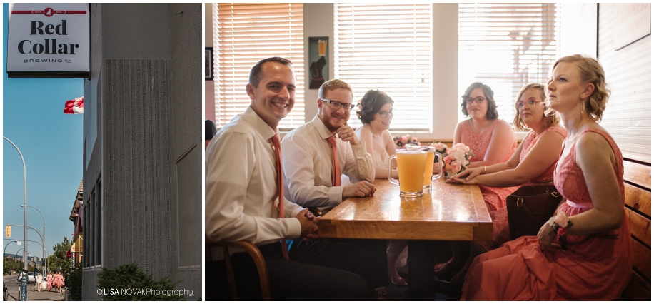Red Collar Brewing brewery outdoor summer wedding sunshine TRU Kamloops BC vintage chic Vancouver photographer