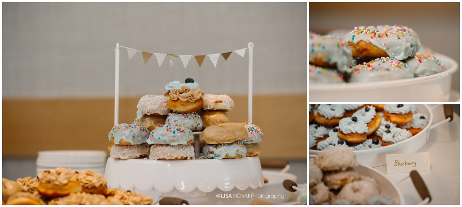PDK donuts summer wedding reception TRU Kamloops BC vintage chic BC photographer