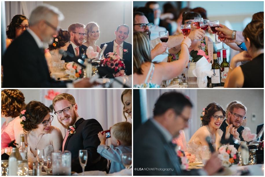 summer wedding reception TRU Kamloops BC vintage chic BC photographer OCF speeches