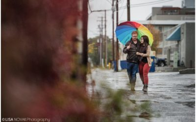 Rainy Fall Engagement Session