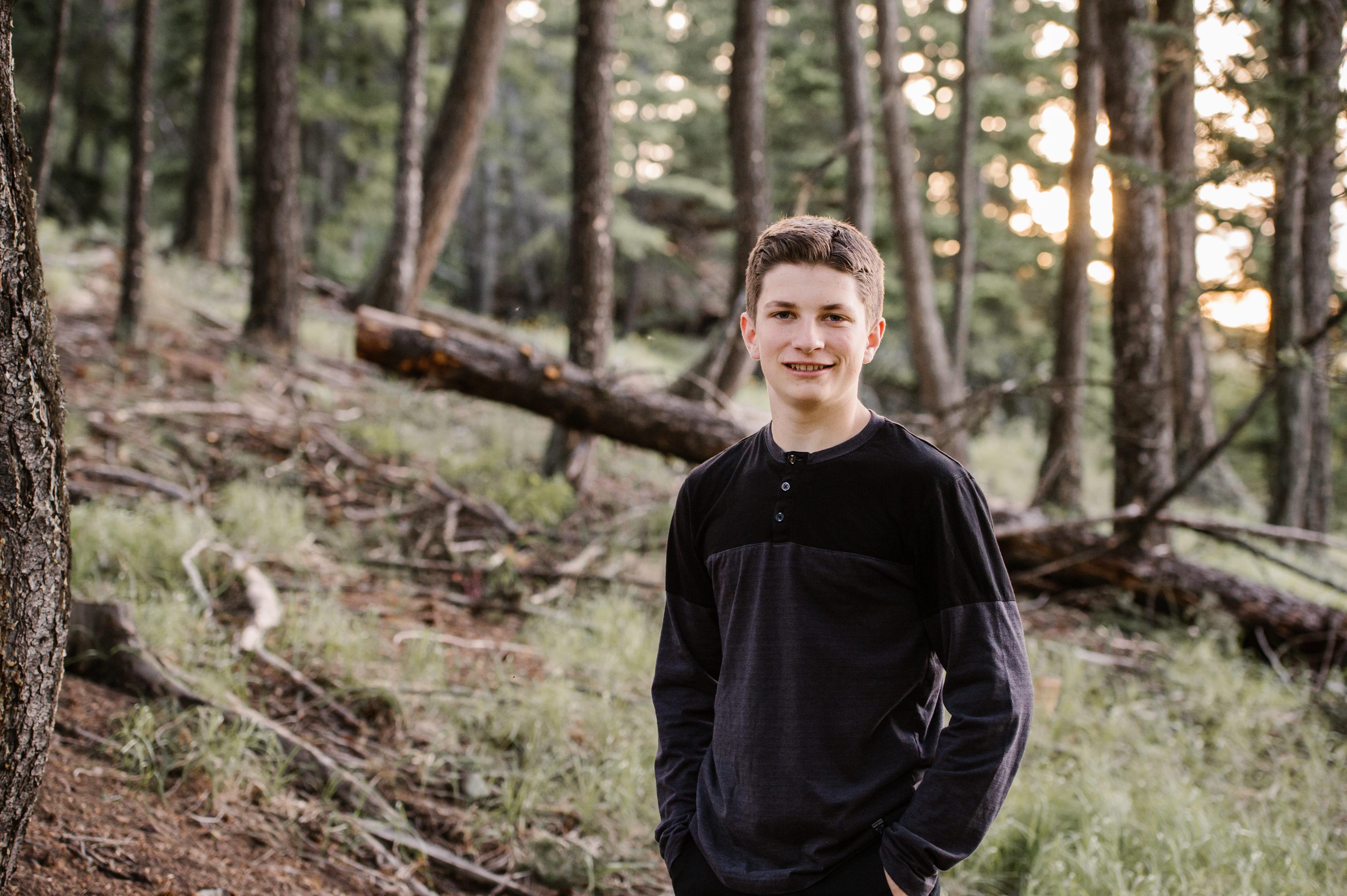 Harper Mountain family session golden hour sunshine portrait teen grad session Kamloops BC Okanagan photographer