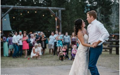 Outdoor BC country wedding