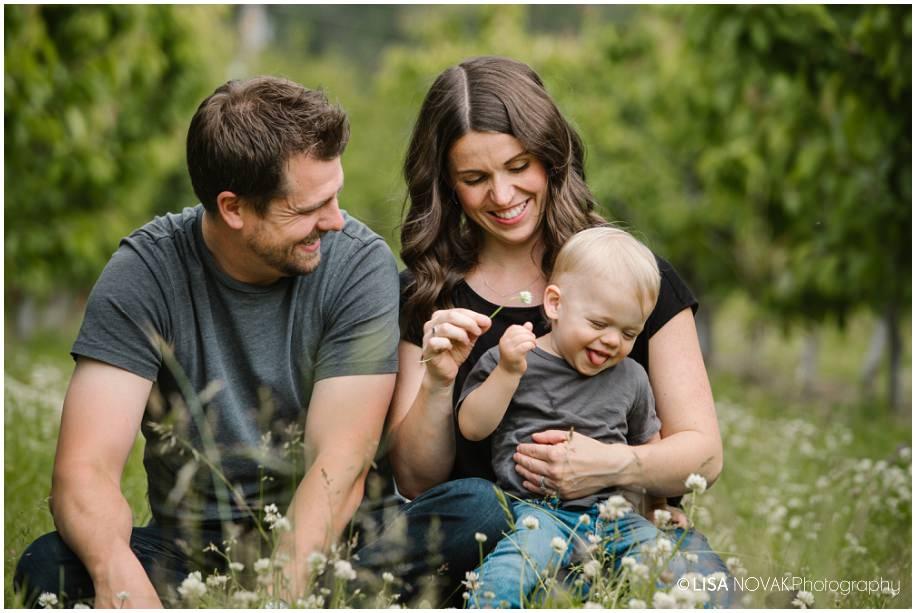 Okanagan lifestyle family session apple orchard toddler Summerland photographer