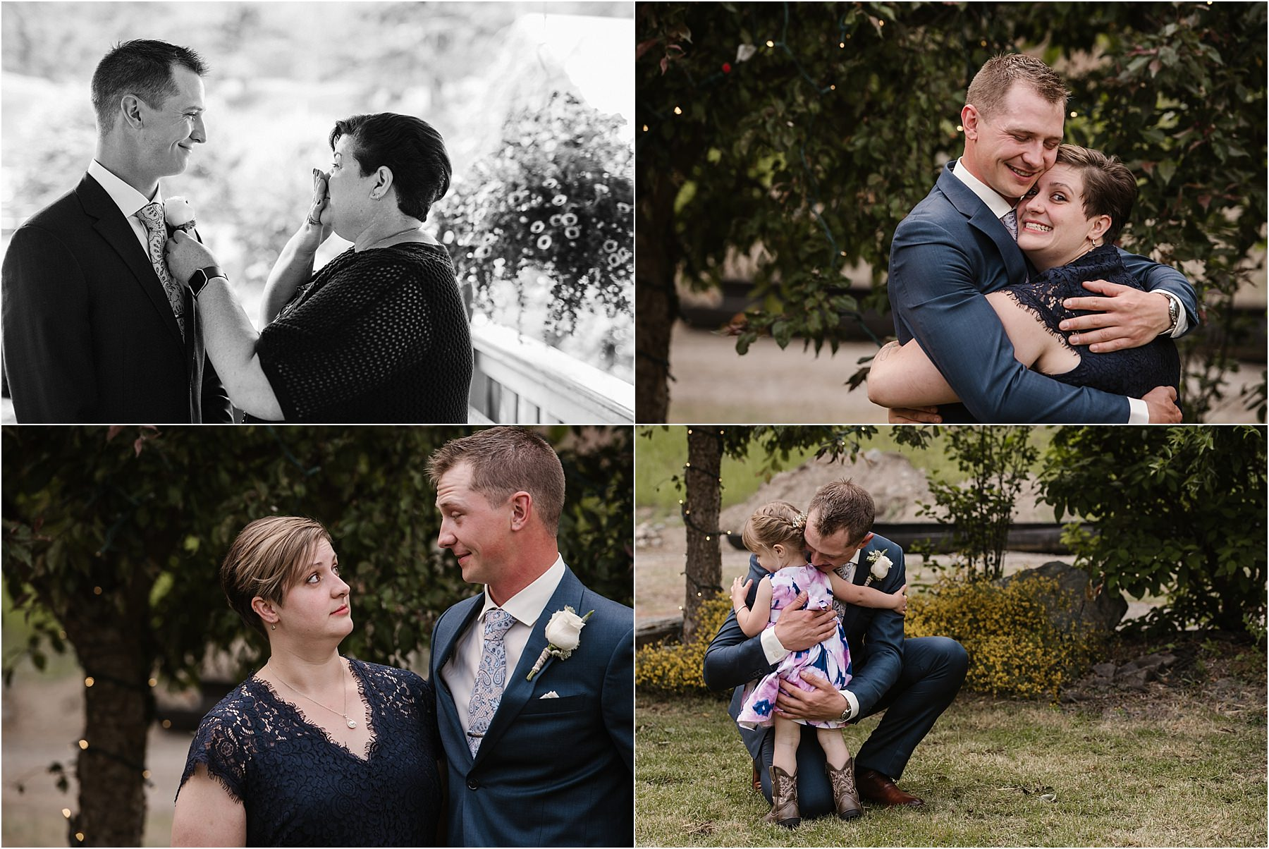 Kamloops wedding photographer fun family portraits