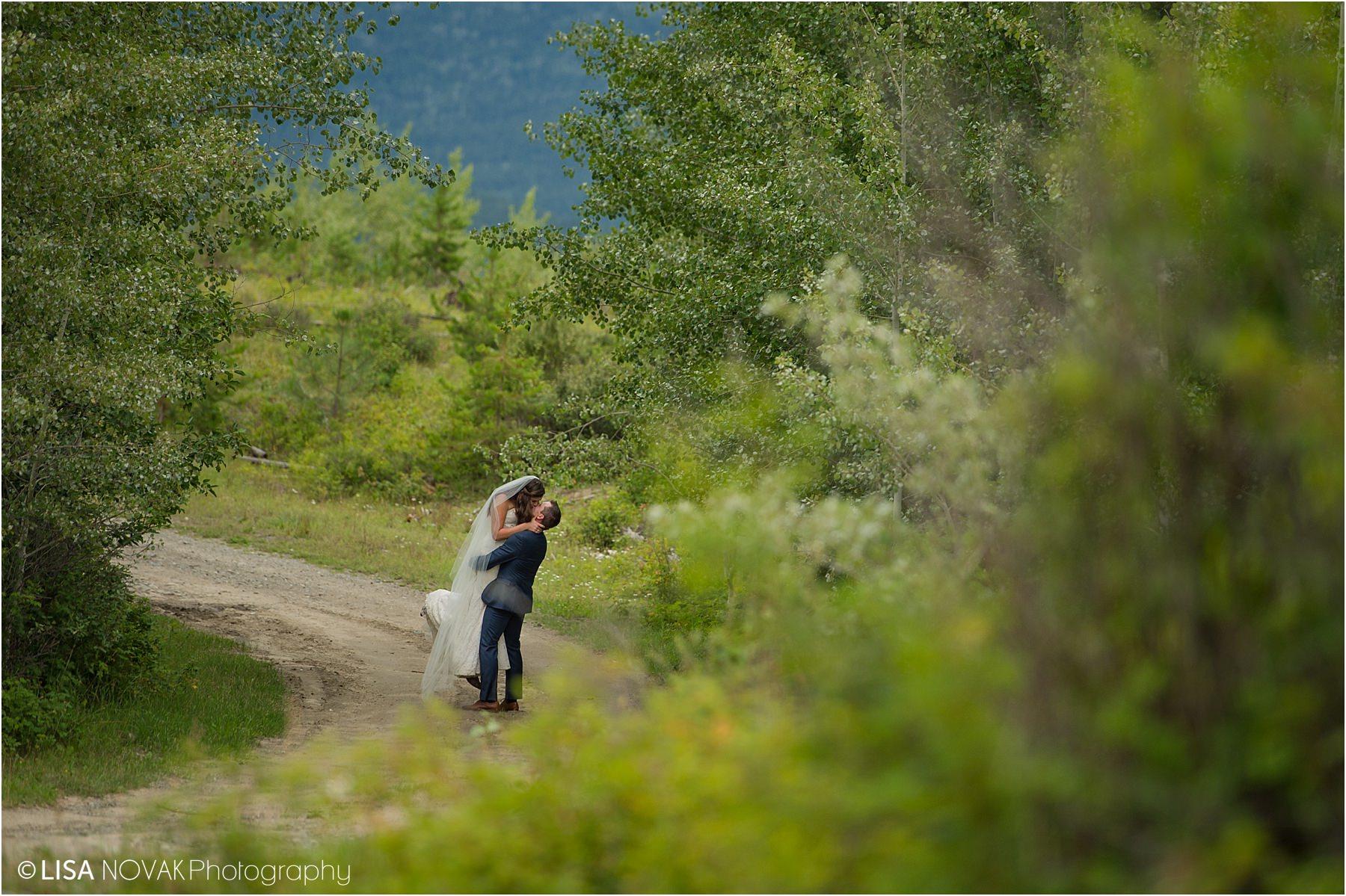 Barriere trash the dress photographer bride groom romantic bridal portraits portrait epic kiss Intimate BC Summer wedding