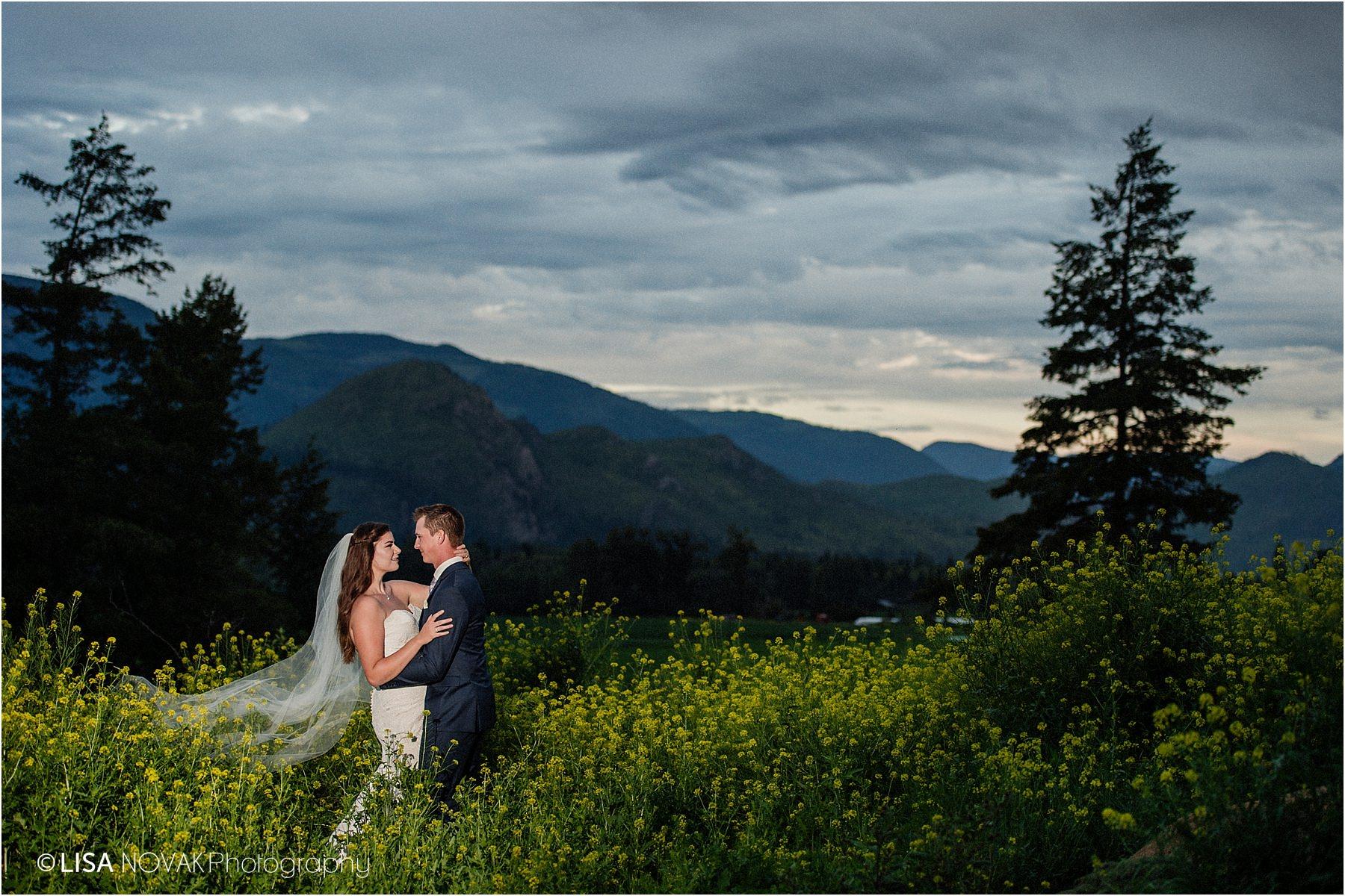 Kamloops wedding photographer night portrait off camera flash bride groom romantic bridal portraits portrait epic kiss