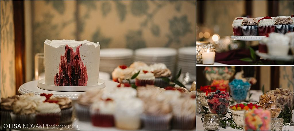 Sun Peaks Grand wedding reception luxe decor Brandy Maddison Events creative cake artist Sweet Spot Cupcakes candy bar