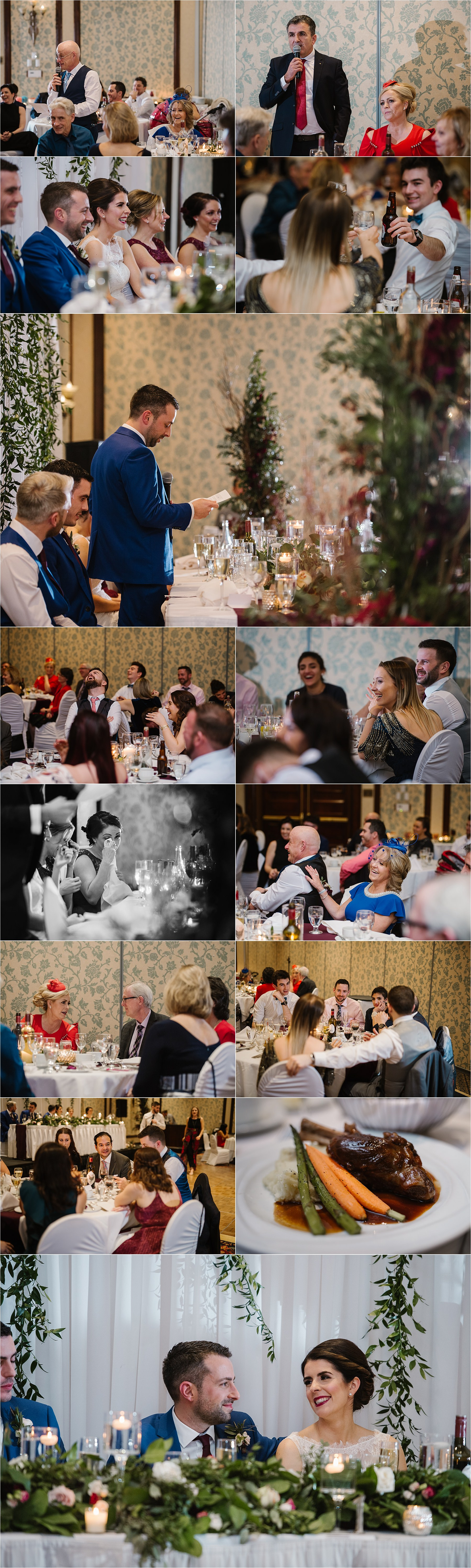 Sun Peaks Grand destination wedding reception speeches laughter crying