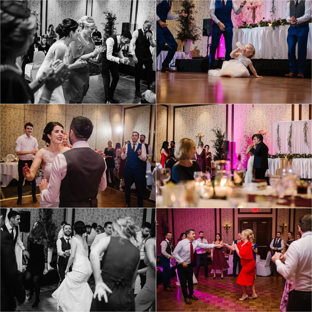 Sun Peaks Grand destination wedding reception Irish dancing killing it dance moves party fun