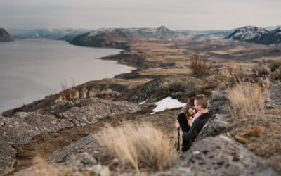 Kamloops Lake Bluffs Engagement Session