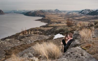 Kamloops Lake Bluffs Engagement Session