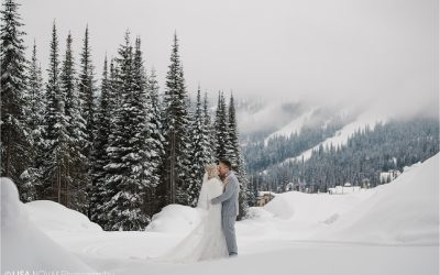 Sun Peaks Resort winter wedding | Carly + Bruce