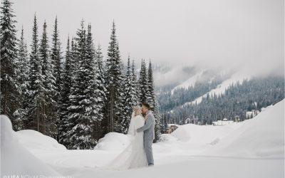 Sun Peaks Resort winter wedding | Carly + Bruce
