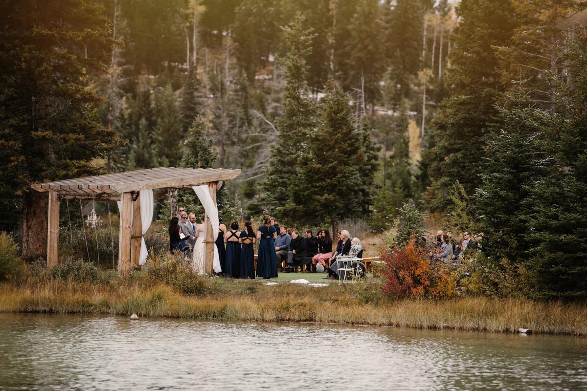 Lac le Jeune wilderness resort wedding photographer Kamloops ceremony venue