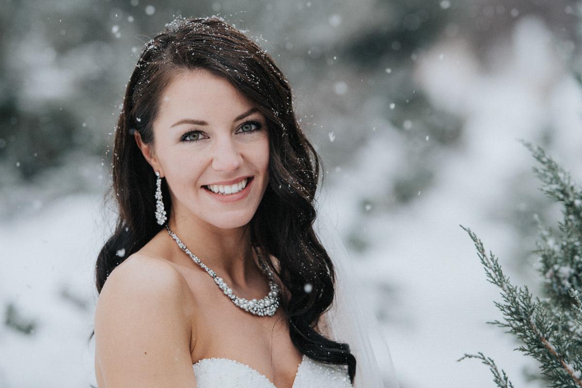 Kamloops winter wedding TRU photographer