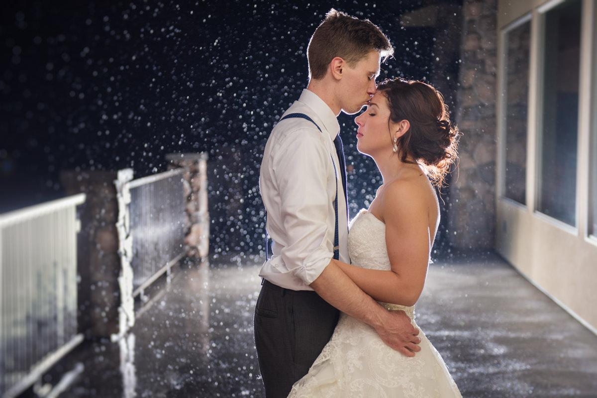 Rainy wedding Kamloops best photographer