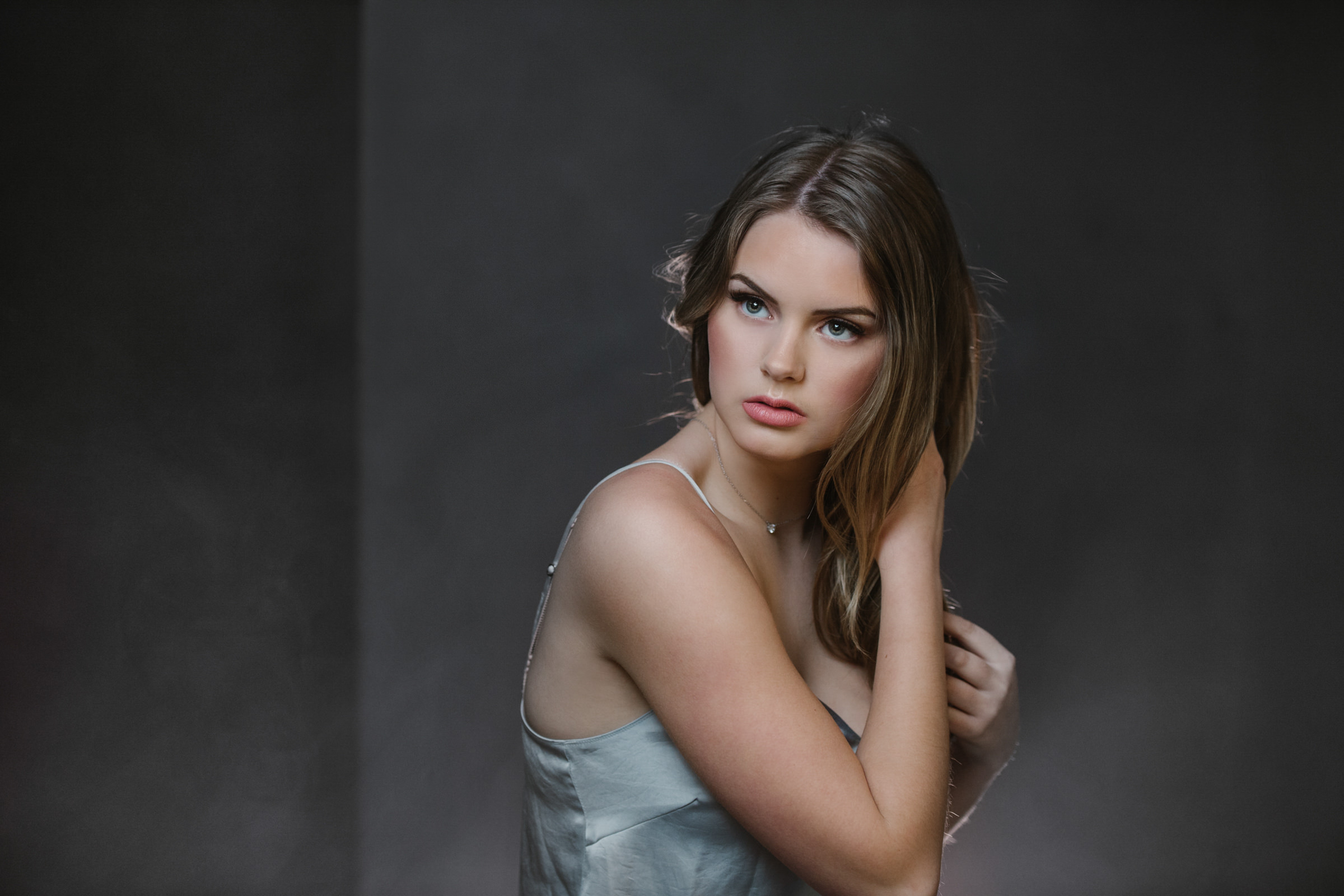 Creative portraits for todays moderm woman Kamloops model photographer studio shoot