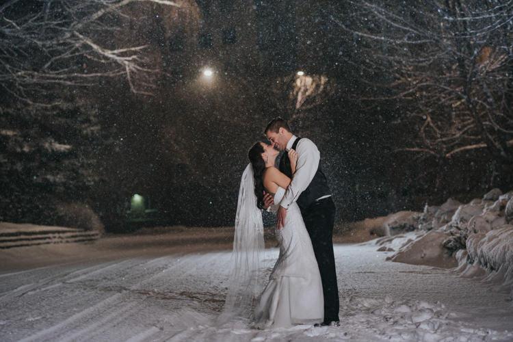 Kamloops best winter wedding photographer