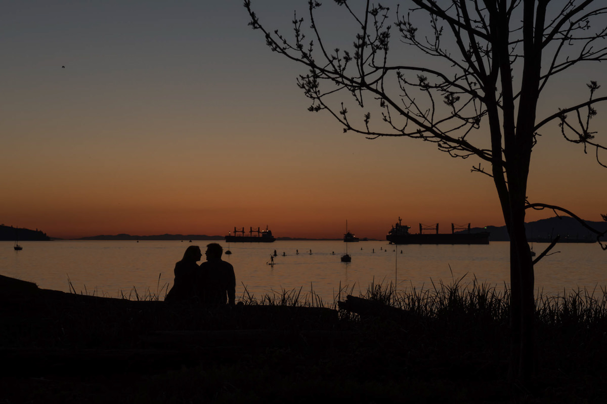 Vancouver engagement session Jericho Beach sunset