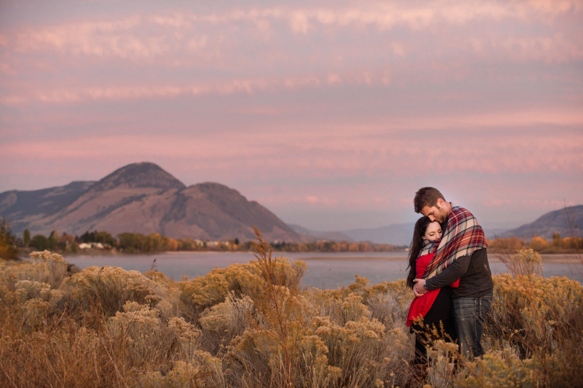 Kamloops engagement session locations sunset