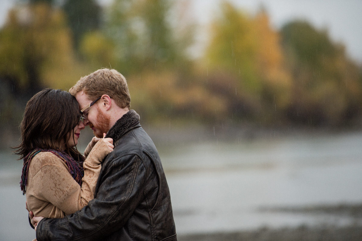 rainy engagement session Kamloops BC