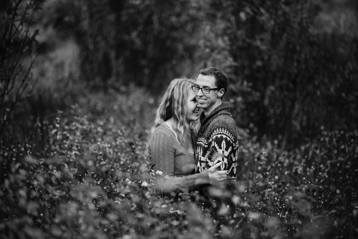 black and white photography Kamloops engagement photographer