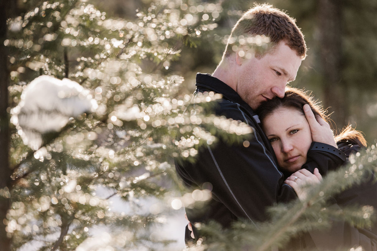 Barriere winter engagement session wedding photographer