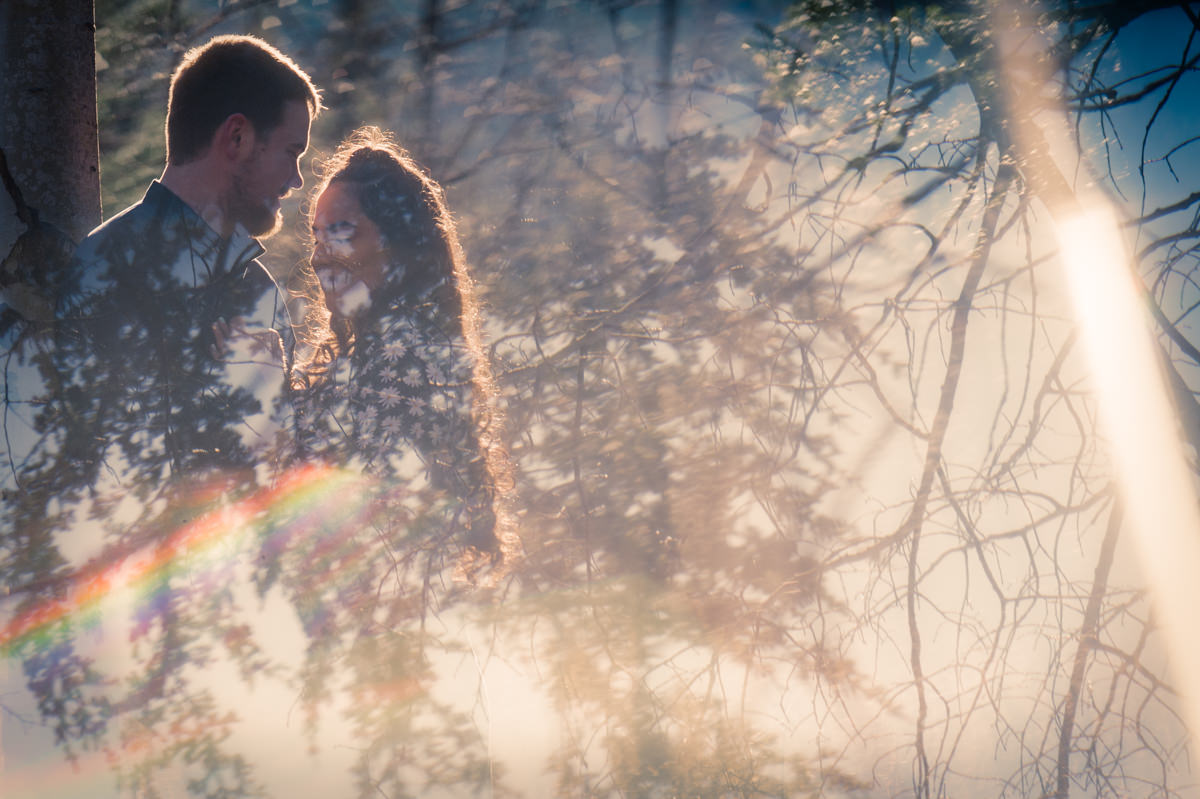 photography techniques prism engagement session