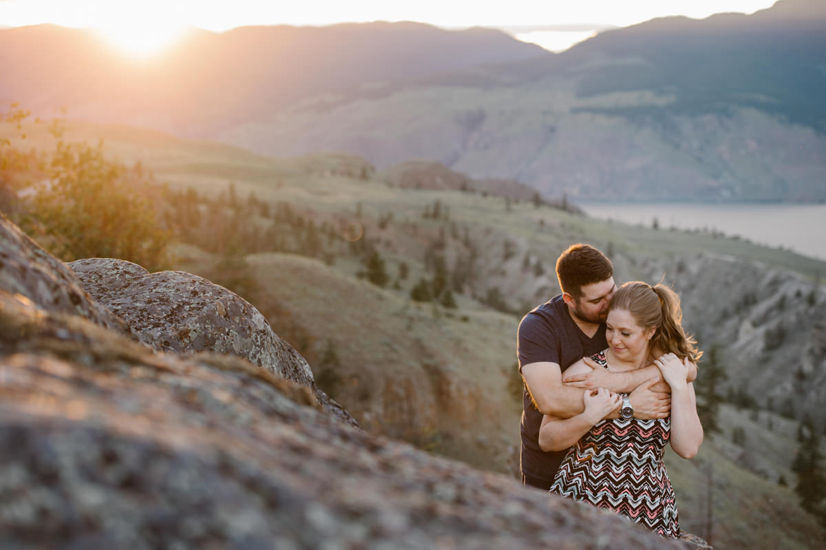golden hour engagement session Kamloops