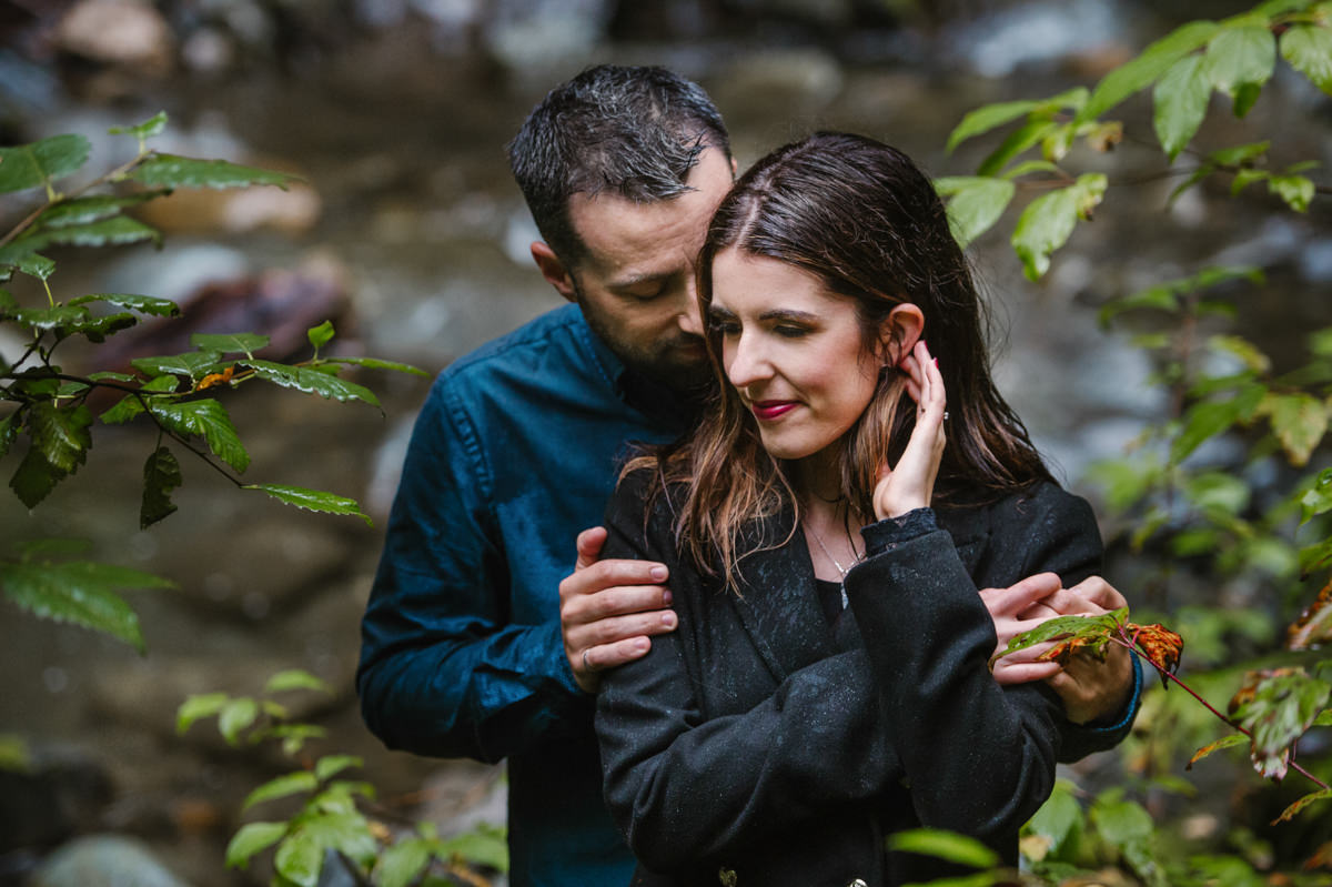 sun peaks engagement session in the rain