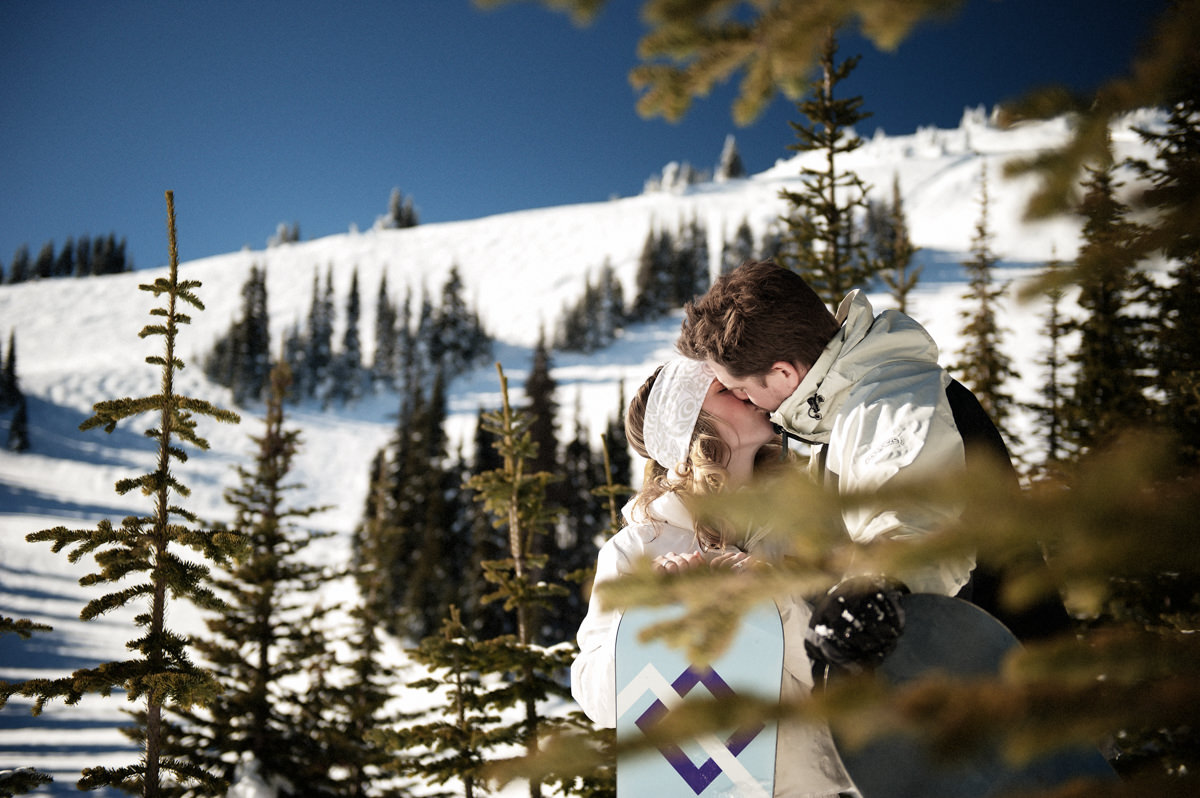 fun sun peaks winter engagement session