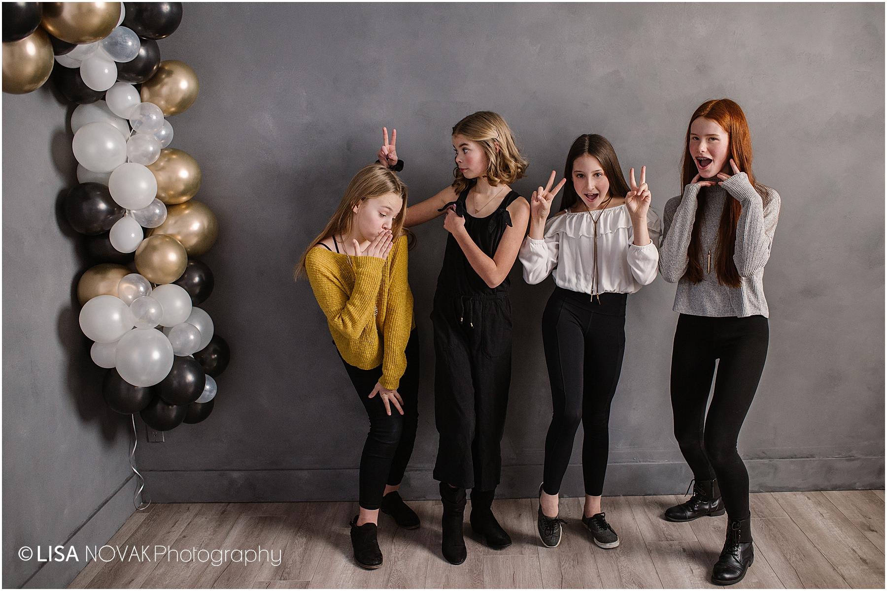 tween birthday party ideas Kamloops okanagan studio photoshoot